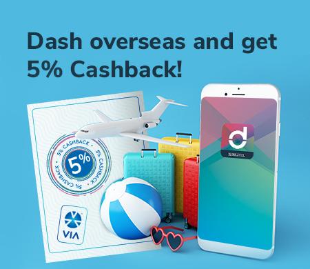 [Singapore] [EXPIRED] 5% Off Overseas PayWave Transactions with Singtel Dash
